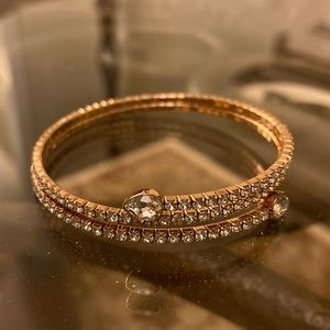 Swarovski Twisty Bangle in Rose Gold